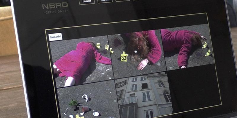 Moordspel beveiligingscamera's