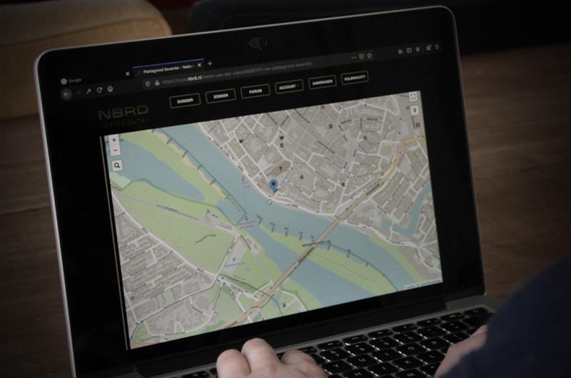 Moordspel crime databank plattegrond